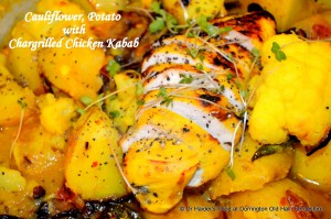 Cauliflower potato, with or without Chicken Kabab